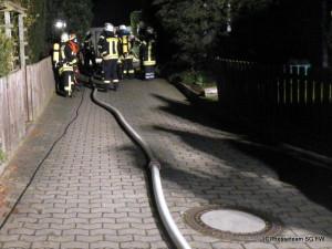 Hagenburg, Feuerwehr retter Bewohner, 12.04.2015