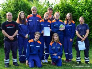 Das Siegerteam aus Sachsenhagen